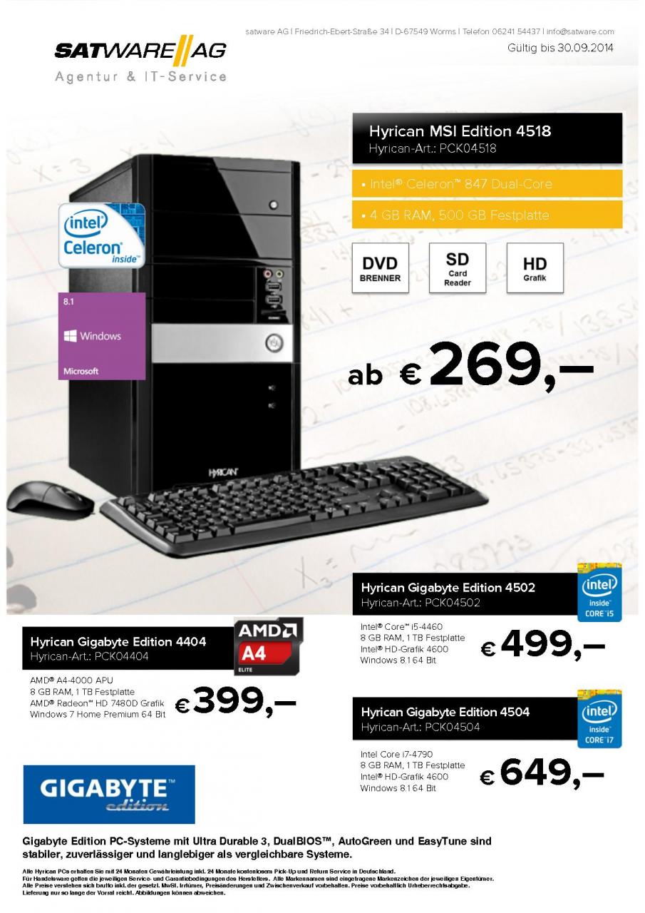 Flipbook HTML5 Blätterkatalog mit Angeboten aus dem satware AG Store