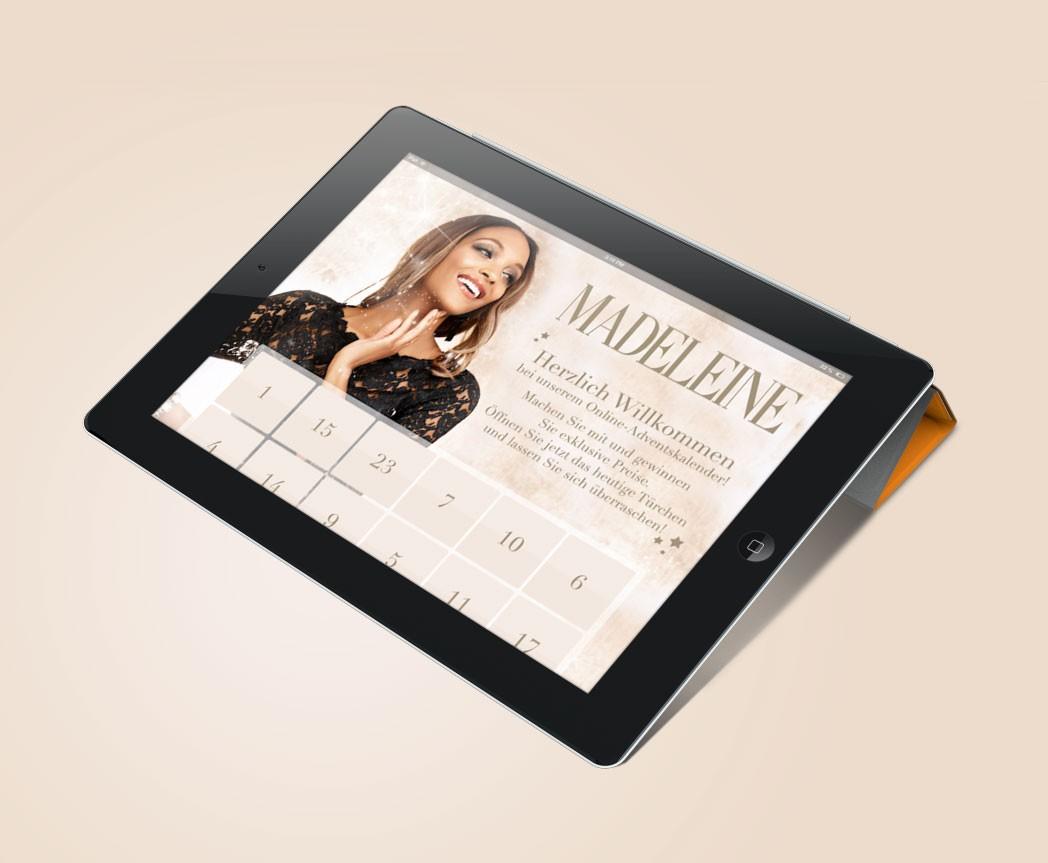 Online-Adventskalender für Madeleine Mode