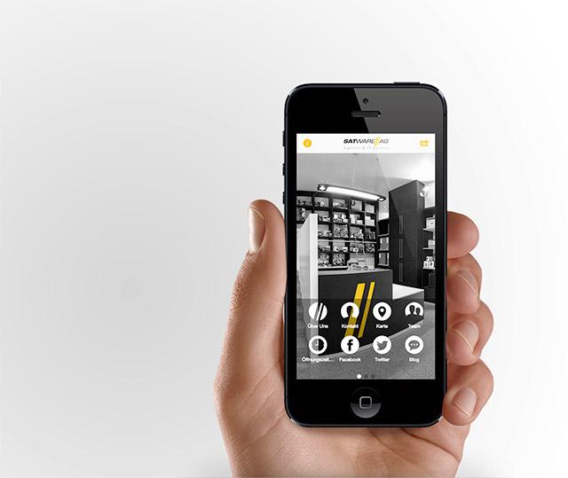 satware AG mobile Webseite