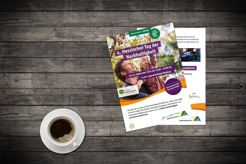Flyer für die Veranstaltung 4. Hessischer Tag der Nachhaltigkeit