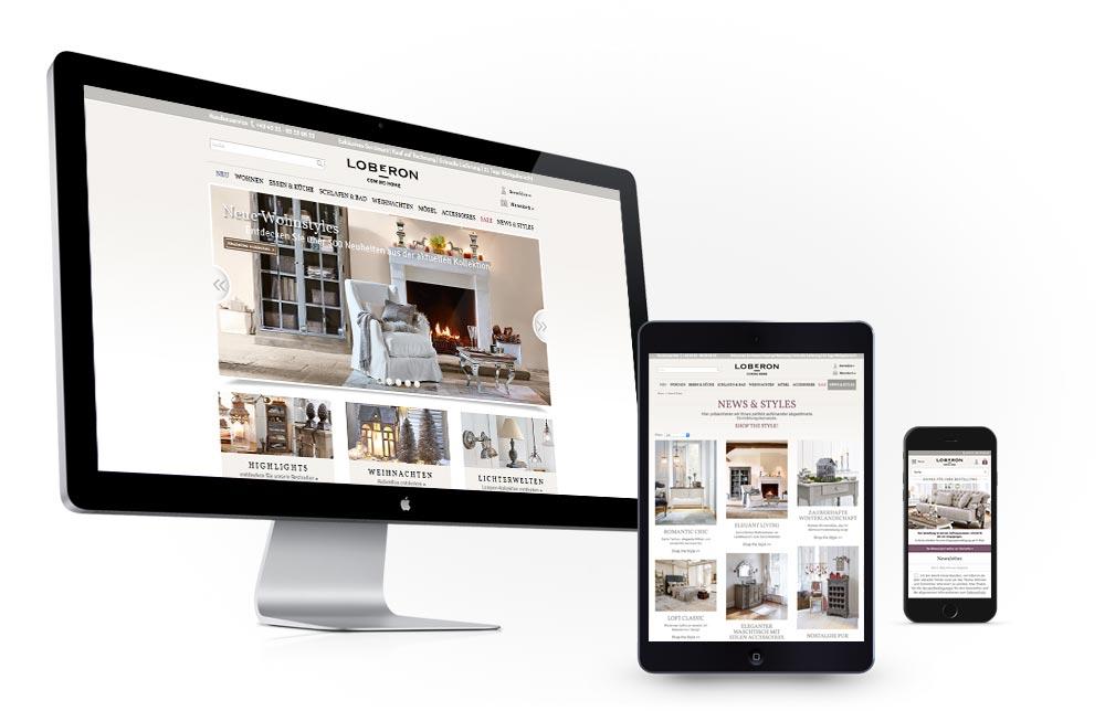 Responsive Design Möbelversandhaus Loberon