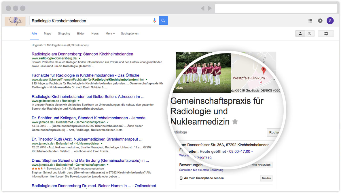 Google MyBusiness Eintrag