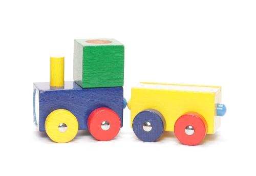 Eisenbahn aus Holz