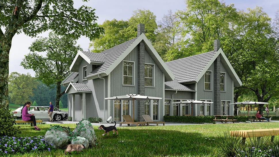 Doppelhaus mit Garten