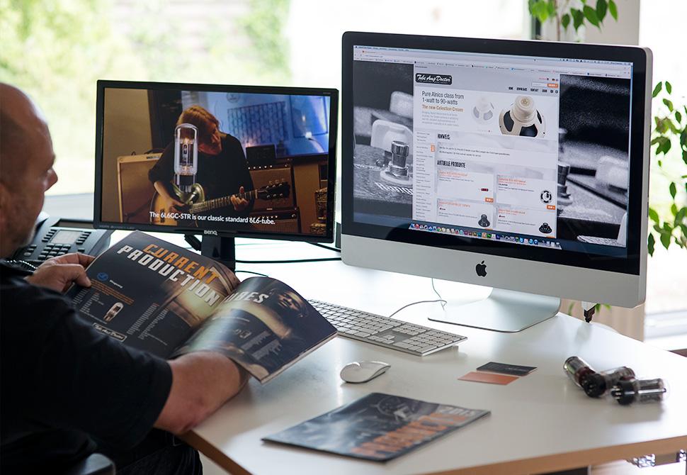 Tube Amp Doctor - Screendesign, Broschüre, Teamkleidung alles aus einer Hand