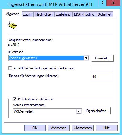SMTP Einstellungen für SSL Versand