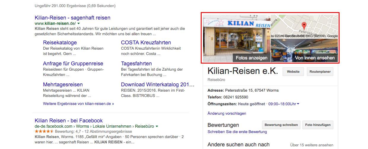 Kilian Reisen Google Street View